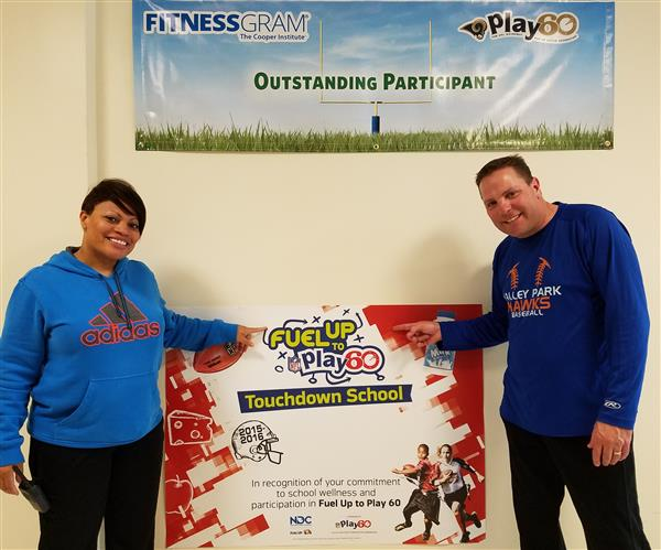 Midwest Dairy Council Awards Valley Park Elementary with $500 for Fuel Up to Play 60 Program Efforts