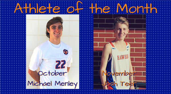 Michael Menley and Tosh Teer, Athlete of the month